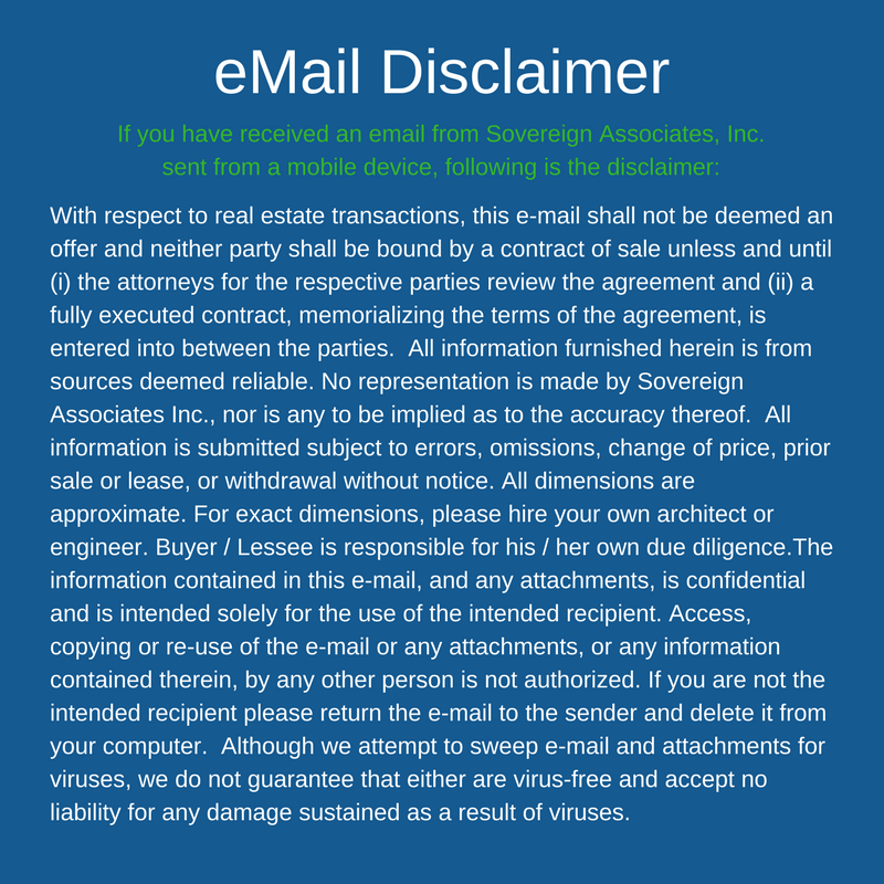 Sovereign Associates email Disclaimer