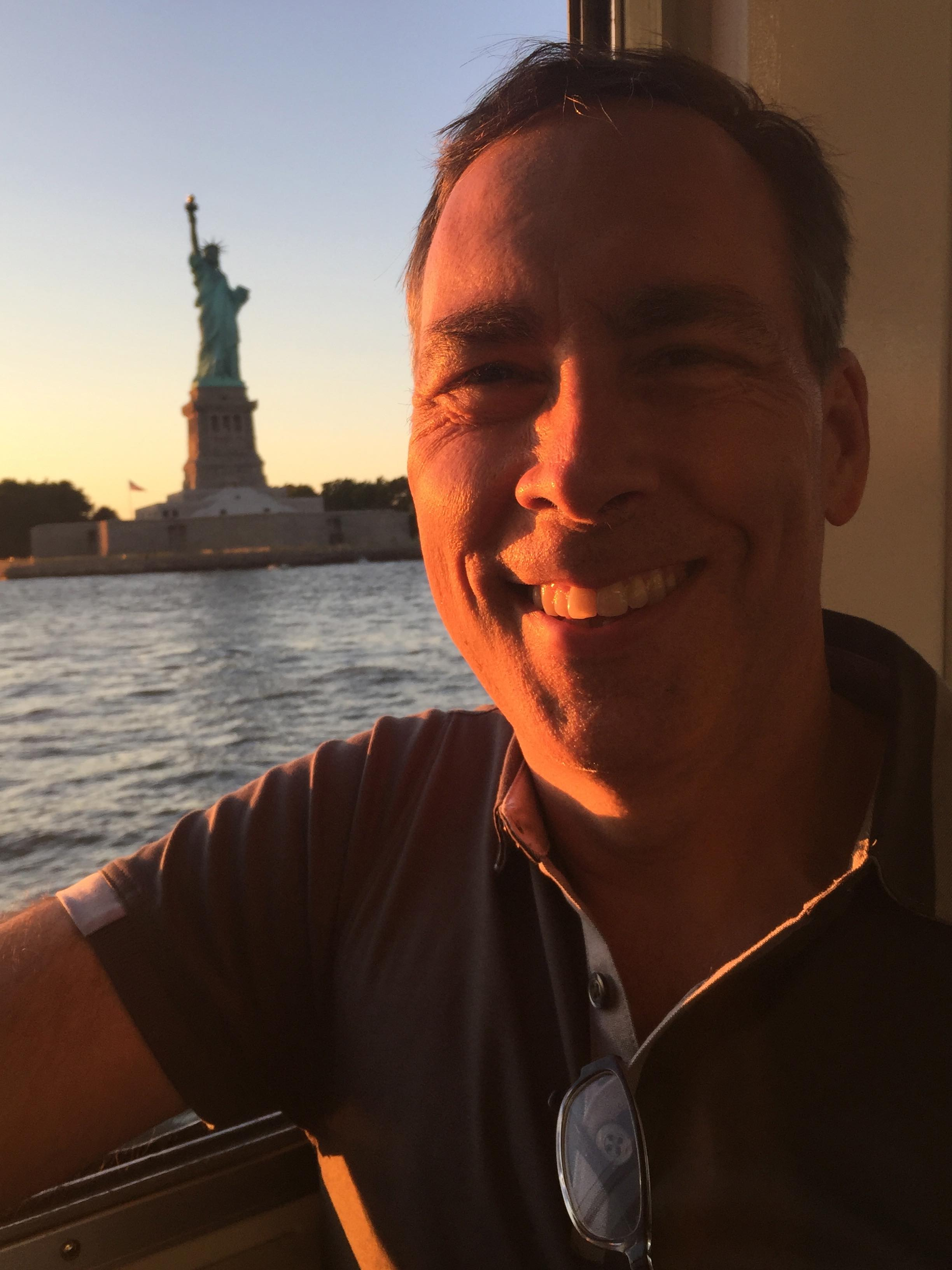 Greg Healy visiting Statue of Liberty